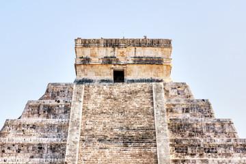 Pyramid of Kukulcan at Chichen Itza in Yucatan Peninsula, Mexico