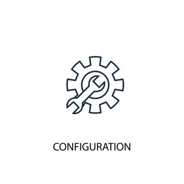 configuration concept line icon. Simple element illustration. configuration concept outline symbol design. Can be used for web and mobile UI/UX