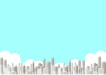 ビル 都市 青空風景