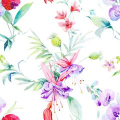 Flower illustration elements