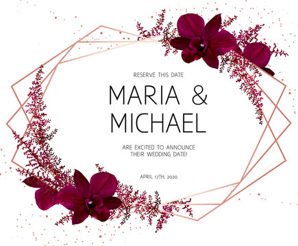 Autumn chic wedding invitation