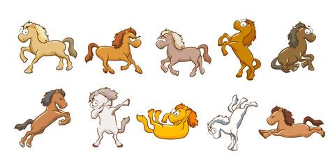 Horse vector set collection graphic clipart design