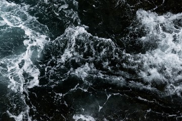High angle view of sea waves - a cool picture for wallpapers and backgrounds