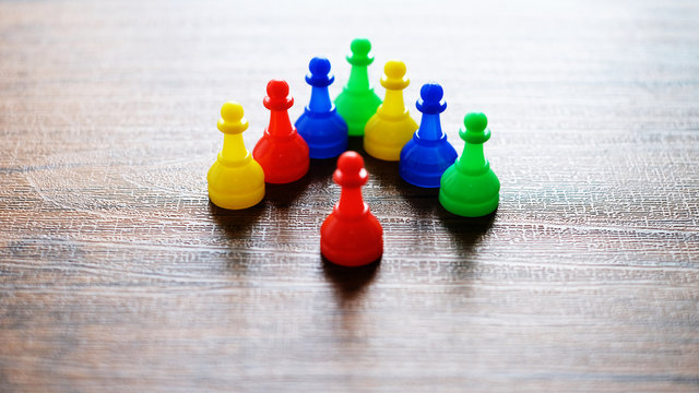 Close-Up Detail of Board games, checkers