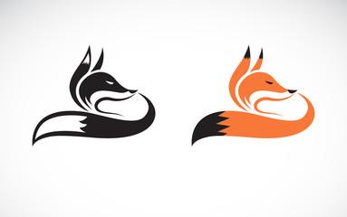 Vector of fox design on white background. Wild Animals. Easy editable layered vector illustration.