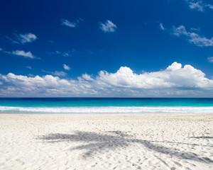 Beach and beautiful tropical sea. tropical beach in Maldives