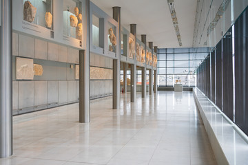 Athens, Greece - Dec 22, 2019: Exhibition in The Acropolis Museum in Athens, Greece, Europe