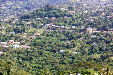 St George's, Grenada, West Indies - Creole houses in the country