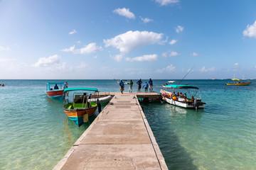 09 JAN 2020 - The Lime, Grenada, West Indies - Grande Anse beach pontoon