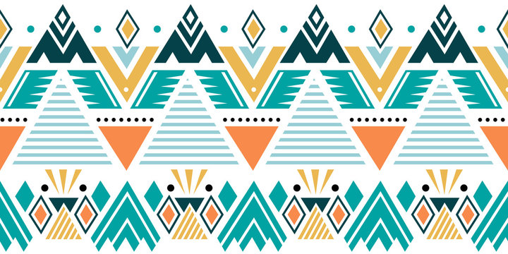 Creative ethnic style vector seamless pattern. Unique geometric vector colorful drawing. Perfect for screen background, site backdrop, wrapping paper, wallpaper, textile and surface design.