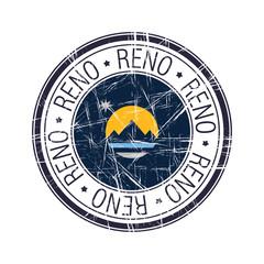 City of Reno, Nevada vector stamp