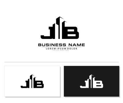 J B JB Initial building logo concept