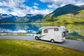 Photo sur Aluminium Camping Family vacation travel RV, holiday trip in motorhome