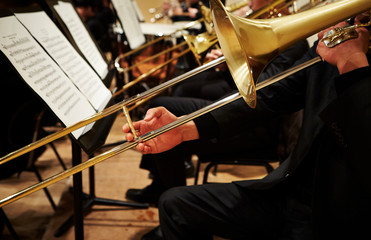 Playing the trombone in orchestra