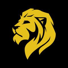 Lion head logo for web, vector illustration