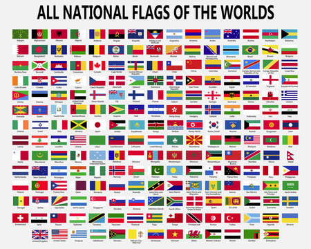 All national flags countries of the world.