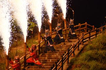 Spoed Foto op Canvas Chocoladebruin Demons of Noboribetsu