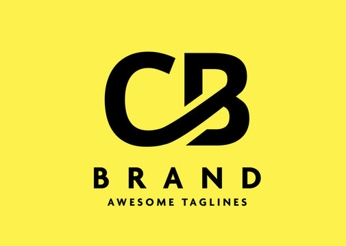 creative initial bold letter cb logo strong vector concept
