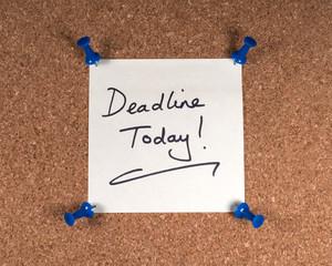 Wall Mural - Deadline Today Memo