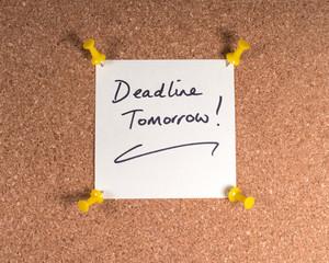 Wall Mural - Deadline Tomorrow Memo