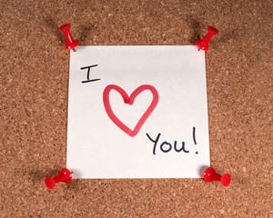 Wall Mural - I Love You!