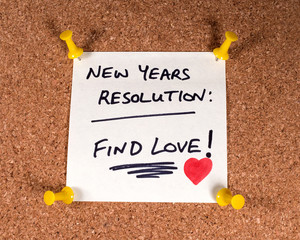 Wall Mural - Find Love New Years Resolution