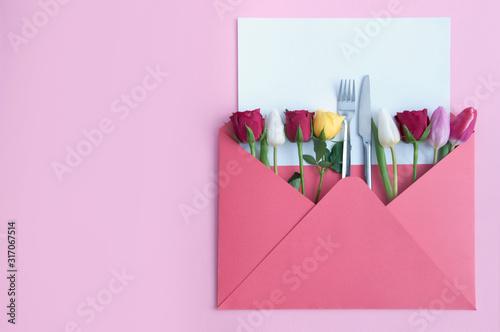 Special dinner invitation background