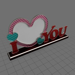 Heart shaped photo frame with text