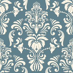 Wall Murals Pattern Vector damask seamless pattern element. Classical luxury old fashioned damask ornament, royal victorian seamless texture for wallpapers, textile, wrapping. Exquisite floral baroque template.
