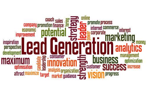 Lead generation word cloud concept 2