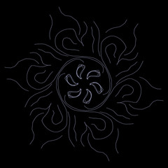 Fototapeta Wzór kwiatowy na czarnym tle  obraz