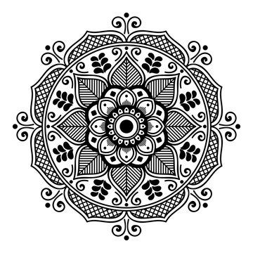 Abstract Vector Mandala for coloring page