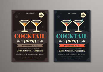 Cocktail Party Flyer Layout
