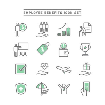 EMPLOYEE BENEFITS ICON SET