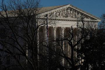 View of Supreme Court Building in Washington