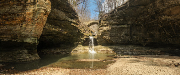 Cascade Falls at Matthiessen State Park in Oglesby, Illinois