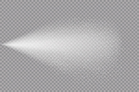 Airy water spray.Mist.Sprayer fog isolated on black transparent background. Airy spray and water hazy mist clean illustration.Vector illustration for your design, advertising, brochures and rest