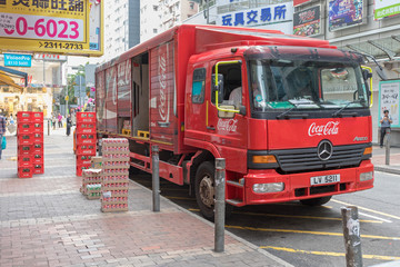 Coca Cola Truck Delivery in Hong Kong