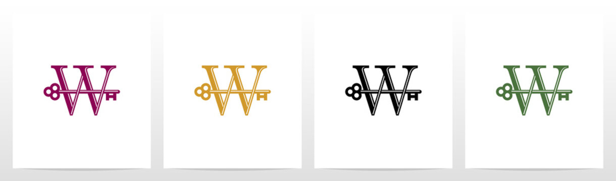 Door Key On Letter Logo Design W