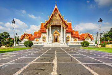 The Marble Temple Wat Benchamabopit Dusitvanaram in Bangkok, Thailand