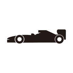Car of formula 1 vector icon illustration sign