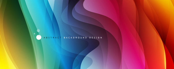 Trendy simple fluid color gradient abstract background with dynamic wave line effect. Vector Illustration For Wallpaper, Banner, Background, Card, Book Illustration, landing page Fototapete