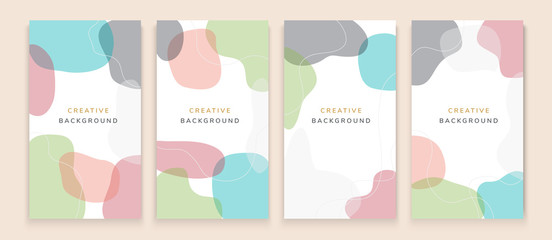 Lamas personalizadas con tu foto Vector set of abstract creative backgrounds in minimal trendy style with copy space for text - design templates for social media stories - simple, stylish and minimal designs for invitations, banners