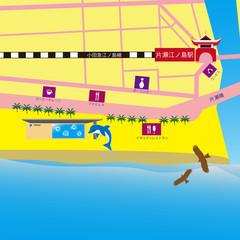 新江ノ島駅周辺地図