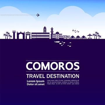 Comoros travel destination grand vector illustration.