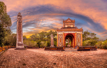 Wall Mural - Historic Tu Duc Tomb in the city of  Hue in Vietnam