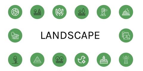Set of landscape icons