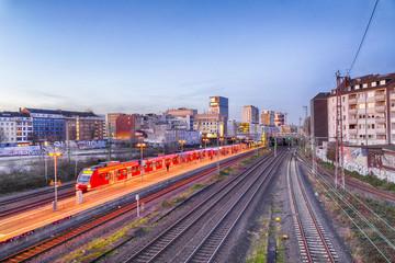 Stadtbahn-Station in Düsseldorf