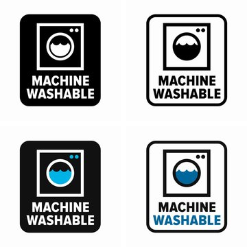 Machine washable materials without damage