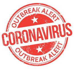 Coronavirus. Outbreak Alert. Vector Stamp.